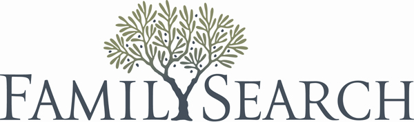 Family Search logo. A tree grows in place of the letter Y.